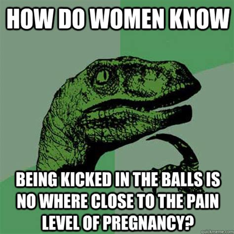 Kick In The Balls Meme - philosoraptor memes quickmeme