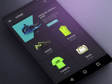 product home page  images app home mobile design