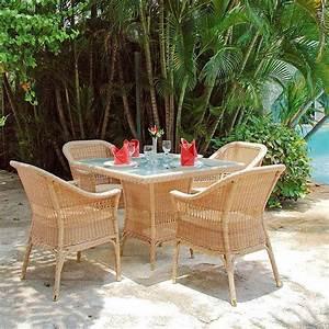 Table De Jardin Tressé : table manger de jardin chad en poly thyl ne tress la ~ Nature-et-papiers.com Idées de Décoration