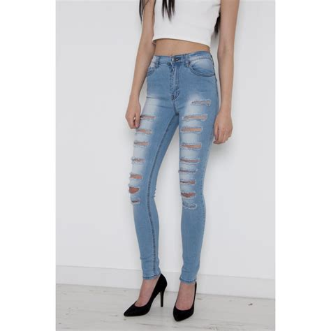 light wash high waisted skinny jeans super ripped skinny jeans mx jeans