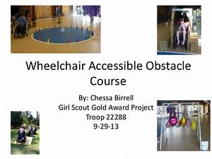 Wheelchair Accessible Obstacle Course