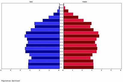 Europe North Population Age Pyramid Structure Today