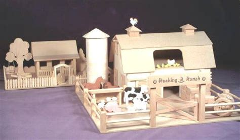 woodworking pattern western ranch farm house childs toy