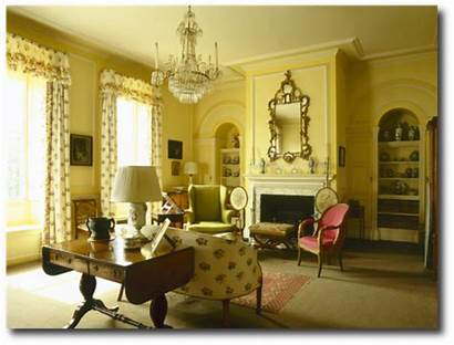 Regency English Country Interior Interiors Georgian Furniture