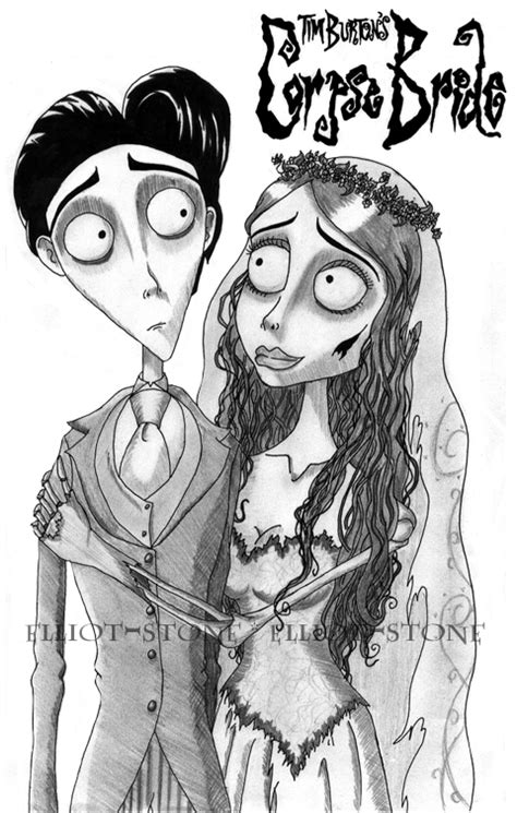 Beetlejuice and Emily Corpse bride coloring page. by AaronDarkk on ... | 745x474