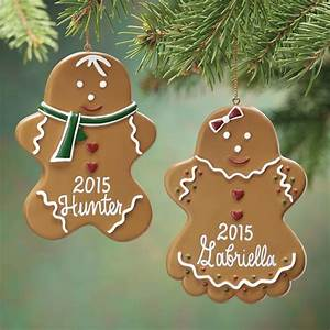 personalized gingerbread ornament christmas miles kimball With gingerbread letter ornaments