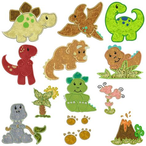 Embroidery And Applique Designs by Dinosaurs Machine Applique Embroidery Patterns 12