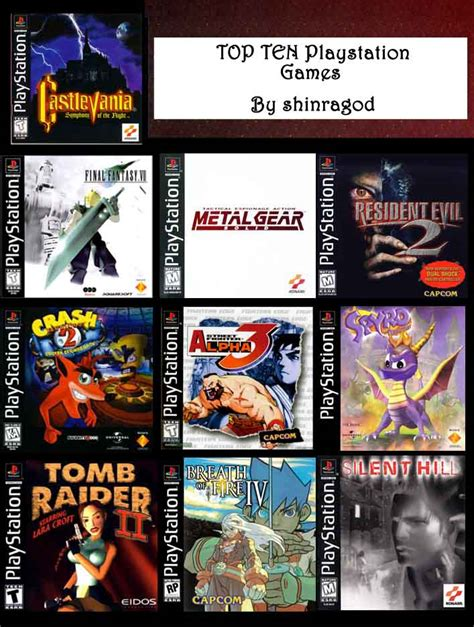 Best Ps1 Top Ten Playstation By Shinragod On Deviantart