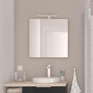 miroir de salle de bains simple ephis l60 x h60 cm oskab With miroir salle de bain 100 x 60