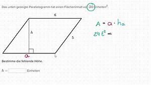 Flächeninhalt Quadrat Seitenlänge Berechnen : h he eines parallelogramms berechnen youtube ~ Themetempest.com Abrechnung