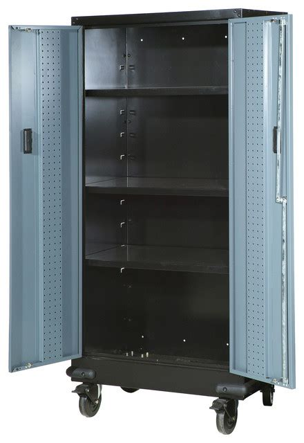 garage cabinets on wheels spg international 30 quot tall storage cabinet with casters