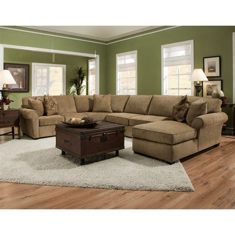coffee table for sectional sofa with chaise u shape brown velvet sectional sofa with panel armrest and