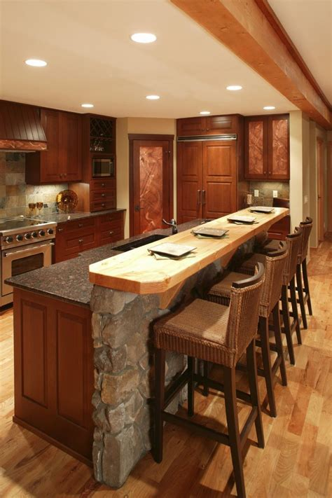 kitchen with bar design 4 elements could bring out traditional kitchen designs 6492