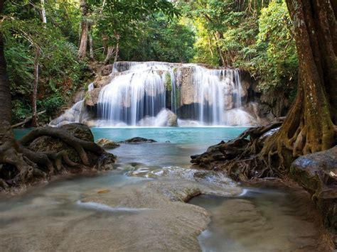 Waterfall Erawan National Park Thailand 017458