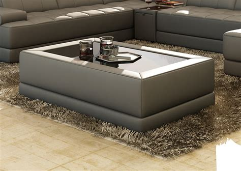 Divani Casa Ev46 Modern Bonded Leather Coffee Table