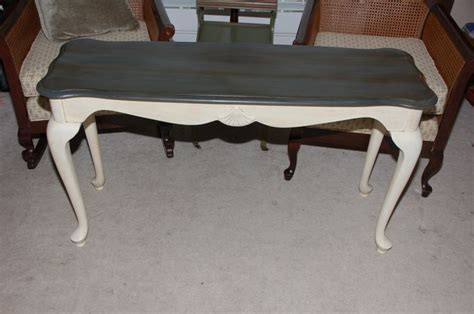 sofa table painted  annie sloan chalk paint top