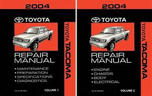 2004 Toyota Tacoma Shop Service Repair Manual Book
