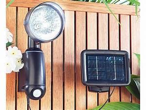 Led Spots Außenbeleuchtung : lunartec au enbeleuchtung spot solarstrahler mit ultraheller 1 watt led und bewegungssensor ~ Markanthonyermac.com Haus und Dekorationen