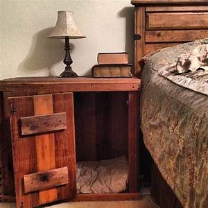 hand made dog crate night stand diy pinterest With dog crate stand