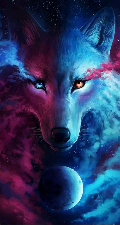 Galaxy Wolf Anime Wallpapers Iphone Backgrounds Wallpaperaccess