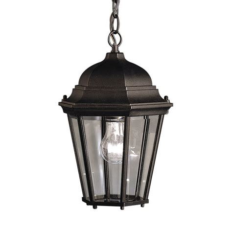 shop kichler madison 13 5 in black outdoor pendant light