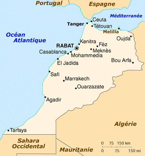 Carte Du Maroc Avec Les Principales Villes by Maroc Carte Du Maroc