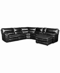xander leather 6 piece chaise sectional sofa with 2 power With xander sectional sofa