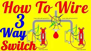 How To Wire 3 Way Switch Wiring Diagrams