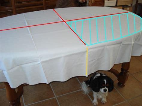 comment faire une nappe ronde comment coudre une nappe ovale