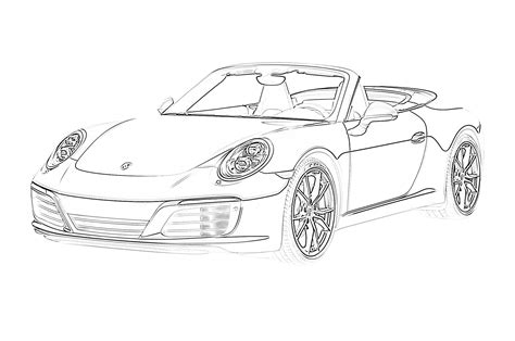 17 Free Sports Car Coloring Pages for Kids Save Print
