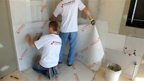 shower wall  floor membrane installation youtube