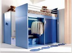Loft Bed With Closet And Desk Home Design Ideas