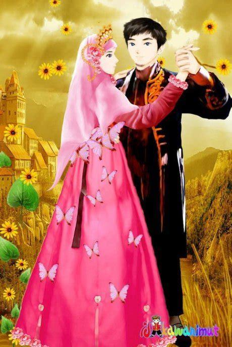 gambar anime islam romantis gambar gambar kartun islami muslimah berjilbab terbaru