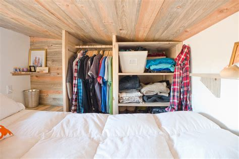 tiny house closet tiny house loft quot closet quot storage contemporary bedroom