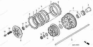 Honda Motorcycle 2002 Oem Parts Diagram For Clutch