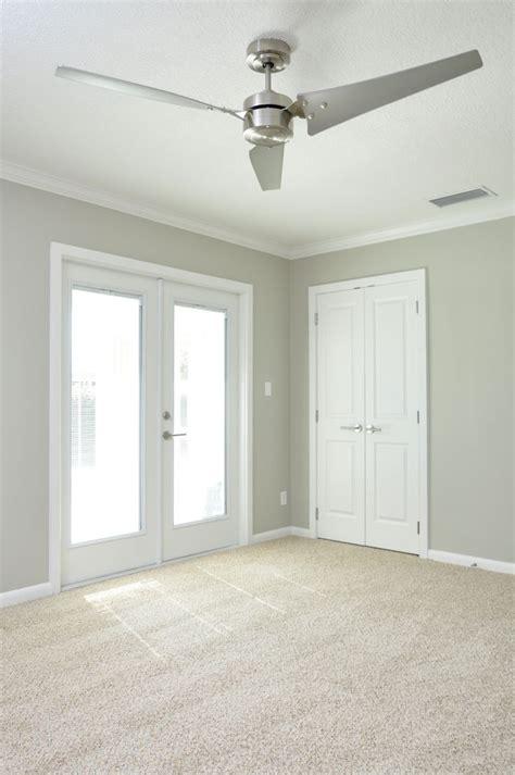 gray walls white trim bedroom neutral shimmery gray walls with clean white trim doors stainless steel three