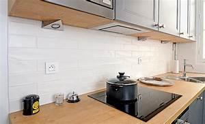 Poser Une Credence : cuisine carreler une cr dence en carreaux de fa ence ~ Melissatoandfro.com Idées de Décoration