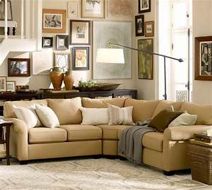 buchanan roll arm upholstered curved 3 piece l shaped With buchanan sectional sofa pottery barn