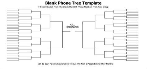 printable phone tree template   word excel
