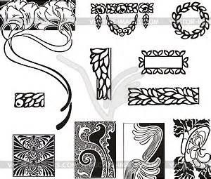 Jugendstil Florale Ornamente : einfache florale ornamente im jugendstil vektor skizze ~ Orissabook.com Haus und Dekorationen