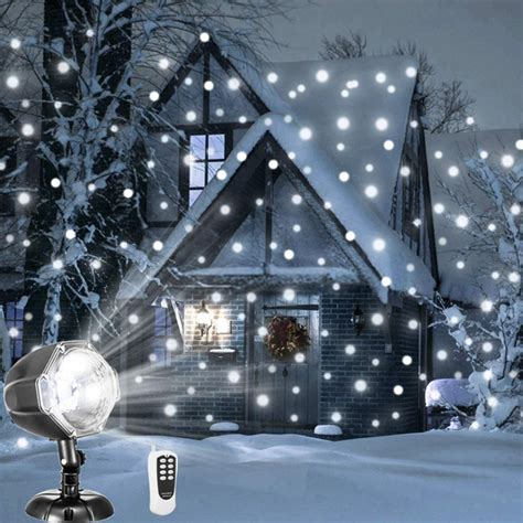 christmas falling snow projectors affordable decor finds house mix