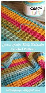 Gorgeously Textured Baby Blanket Made From Caron Cakes