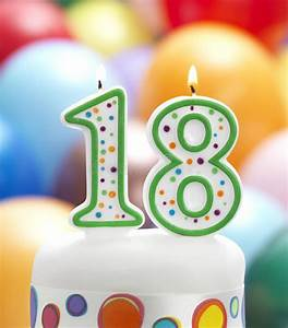 It's My 18th Birthday stock image. Image of candle ...