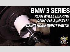 Rear Wheel Bearing Removal & Install USING HOME DEPOT