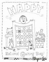 Coloring Quilting National Pages Printable Sweet Sheet Birthday Skiptomylou Lou Skip Printables Template sketch template