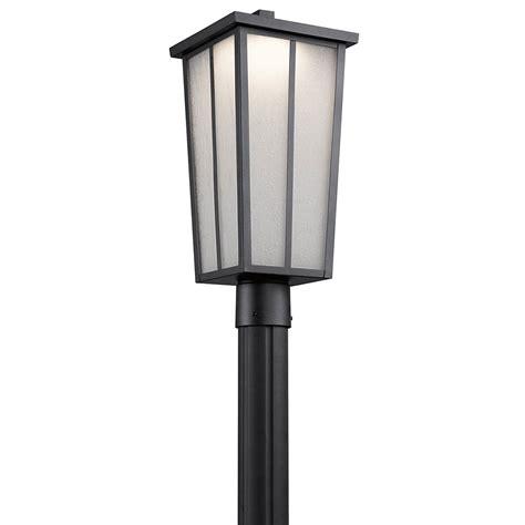 exterior led lighting kichler 49625bktled valley textured black led