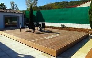 Mobile Terrasse Pool : abri piscine terrasse mobile terrasse mobile pour piscine en position ferm terrasse ~ Sanjose-hotels-ca.com Haus und Dekorationen