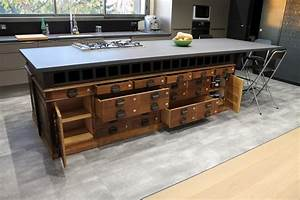 Meuble Ilot Cuisine : meuble cuisine central meuble ilot cuisine 20170701200622 meuble de cuisine lot central pin ~ Teatrodelosmanantiales.com Idées de Décoration