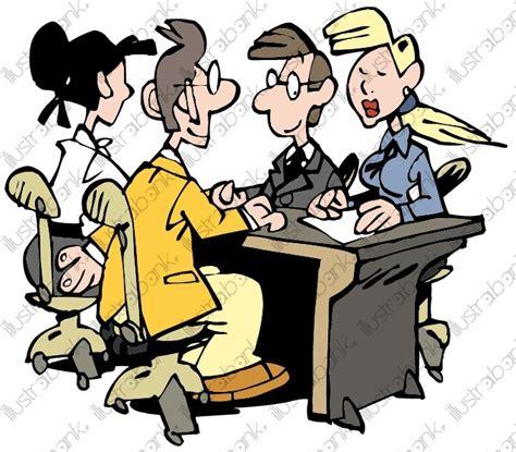dessin humoristique travail bureau réunion de travail illustration libre de droit sur