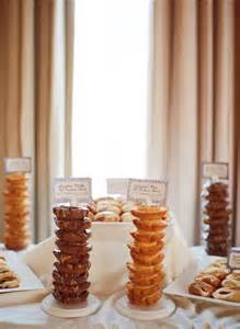 Donut Bar Display at Wedding